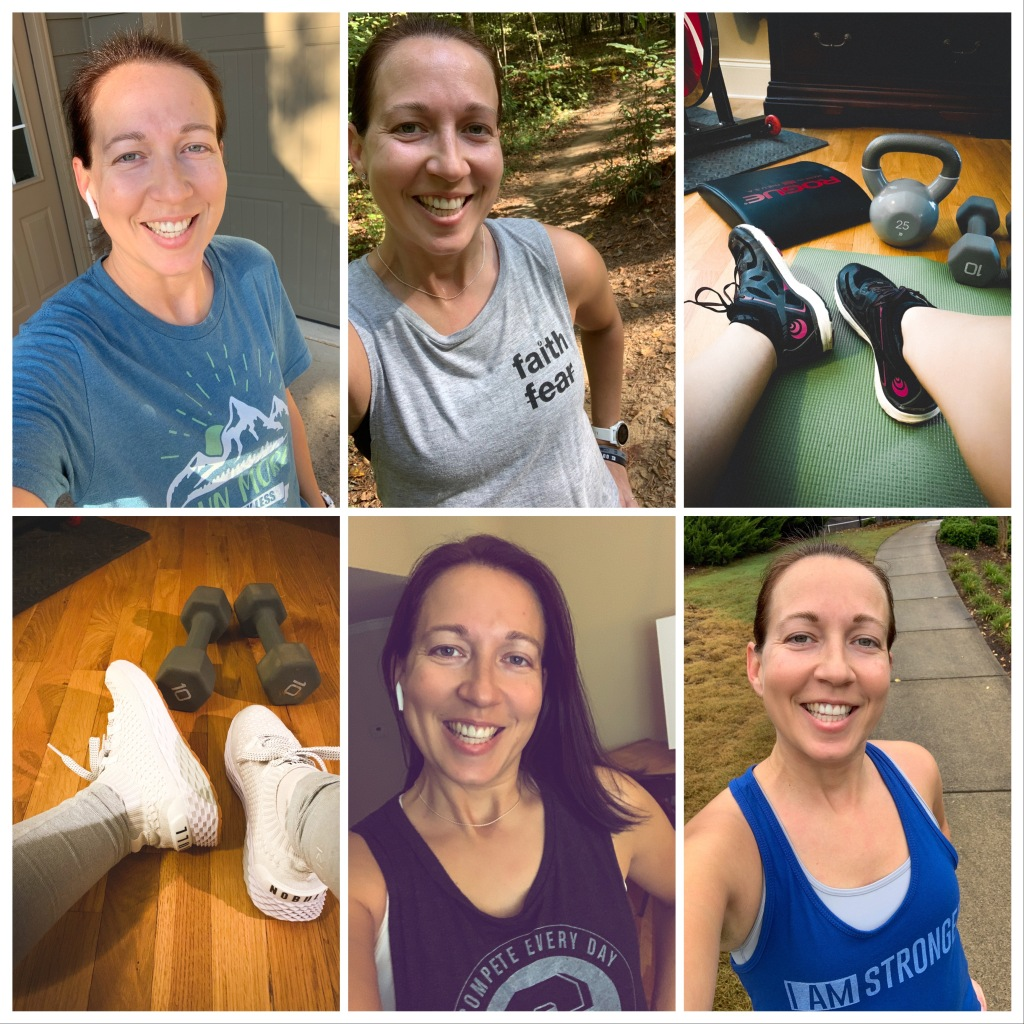 Pictures of my week back to running and working out post COVID